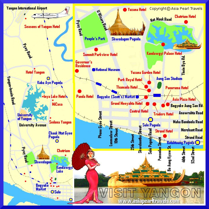 Myanmar Hotels – Myanmar Tourist Map