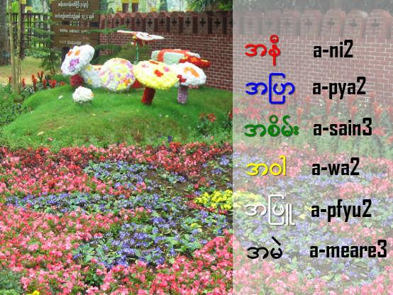 Burmese Color words | Simple Burmese