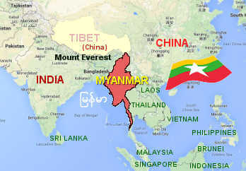 Burmese Language Map - #traffic-club
